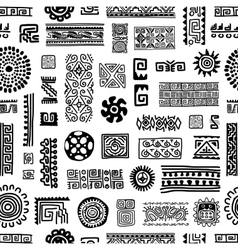Ethnic handmade ornament seamless pattern for vector image