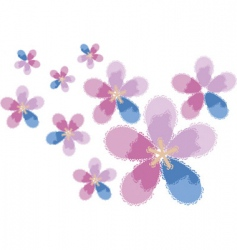 flowers bright vector image vector image