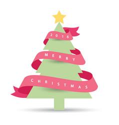 Modern christmas tree 2016 vector