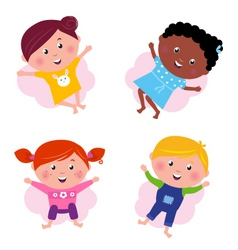 multi cultural kids vector image vector image