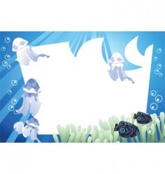 underwater fish vector image vector image