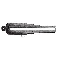 Whithworth gun section vector image