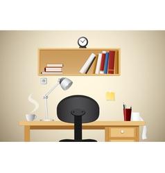 Working desk vector