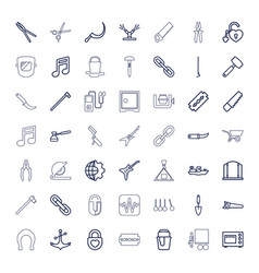 49 metal icons vector