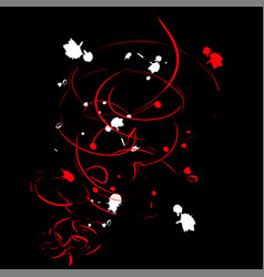 abstract ink blot black background vector image
