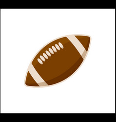American football ball icon isolated on white vector