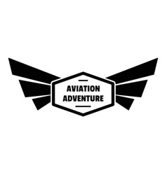 avia adventure logo simple style vector image