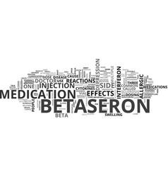 Betaseron text word cloud concept vector