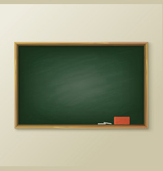 Blackboard or greenboard classboard or chalkboard vector