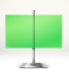 Blank transparent glass information board Template vector