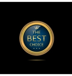 Blue Best choice label vector image