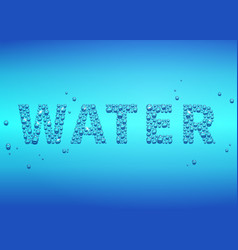 blue drops of water background vector image vector image