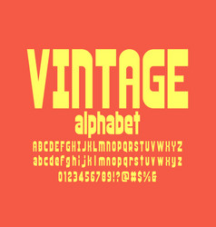 Bold font vector