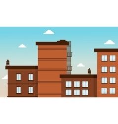 Building city landscape art vector