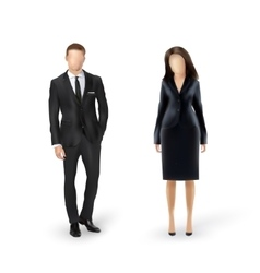 businessman and businesswoman isolated vector image