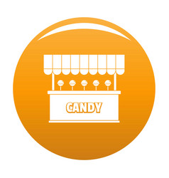 Candy selling icon orange vector