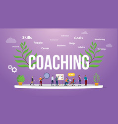 Coaching concept with people teching and vector