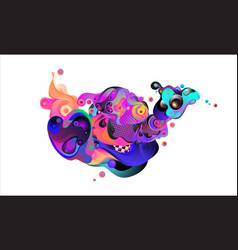 Colorful chicken for background chinese zodiac vector
