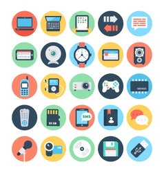 Communication flat icons 3 vector