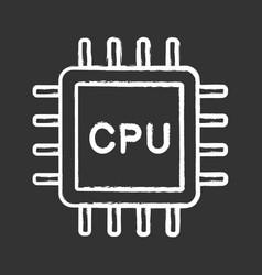 Cpu chalk icon vector