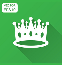 Crown diadem icon in flat style royalty crown vector