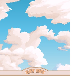 Day sky vector image