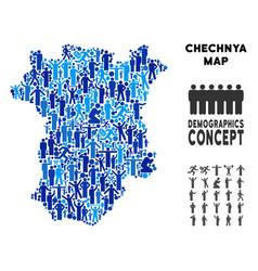 Demographics chechnya map vector