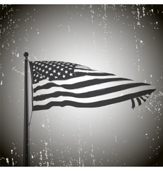 Developing the wind patriotic American flag Old vector image