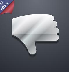 Dislike Thumb down Hand finger down icon symbol 3D vector image
