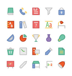 Education Flat Colored Icons 6 vector image