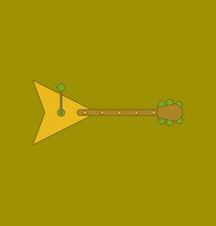 Flat icon on background kids toy balalaika vector