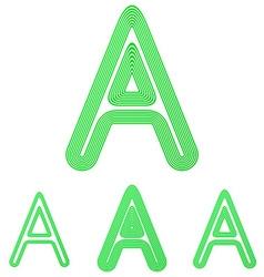 Green letter a logo design set vector image