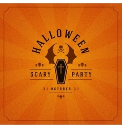 Halloween Typographic Design Background vector