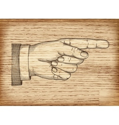 Hand with pointing finger EPS 10 vector image