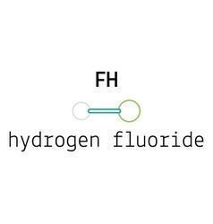 HF hydrogen fluoride molecule vector