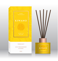 Kiwano home fragrance sticks abstract label vector
