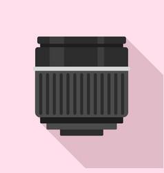 Macro lens icon flat style vector