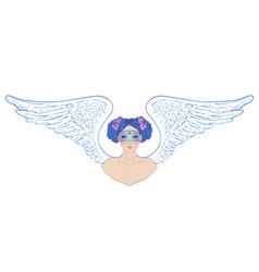 magic night fairy hand drawn portrait vector image
