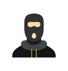 Masked robber icon flat style vector