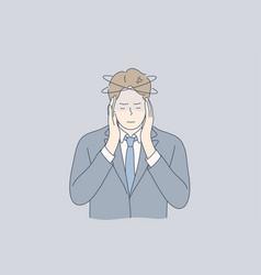 mental stress business ache depression vector image