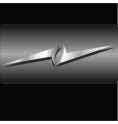metal logo vector image