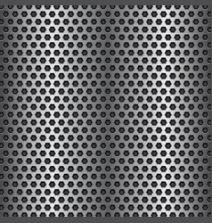 Metal perforated texture vector