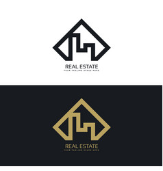 Modern concept of real estate logo vector