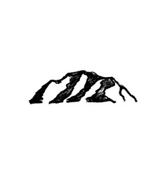 mountain icon vintage vector image
