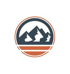mountain nature scenery emblem logo vector image