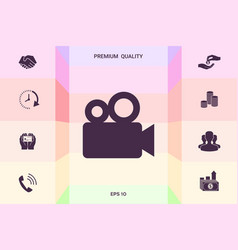 movie camera icon graphic elements for your vector image