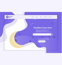 New website landing page template design vector