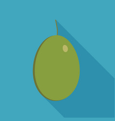 olive icon in flat long shadow design vector image