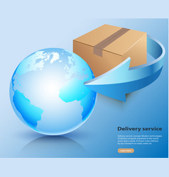oncept delivery service cargo world wide vector image