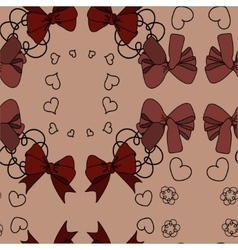 Pattern with bow vector image